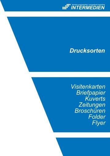Visitenkarten Briefpapier Kuverts Zeitungen ... - INTERMEDIEN