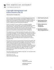Copyright Infringement and Enforcement in the US - Media Piracy ...