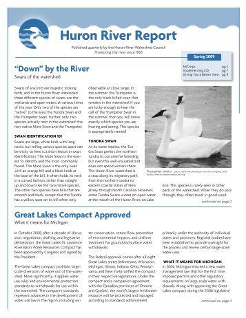 Huron River Report - Huron River Watershed Council