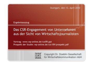 Teil 2 - Deutsches CSR-Forum