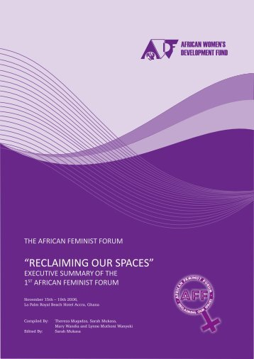 """RECLAIMING OUR SPACES"" - African Feminist Forum"