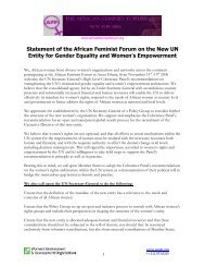 Statement of the African Feminist Forum on the New UN Entity for ...
