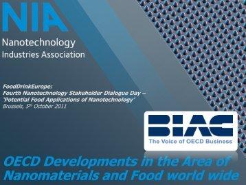 OECD Developments in the Area of ... - FoodDrinkEurope
