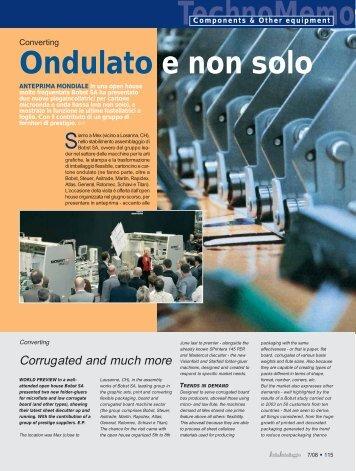 Ondulato e non solo TechnoMemo - Italiaimballaggio