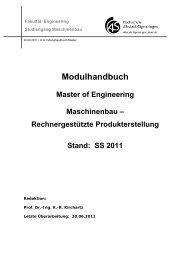 Modulhandbuch Master of Engineering Maschinenbau