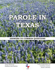 Parole in Texas, Answers to Common Questions