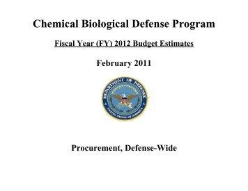 Chemical Biological Defense Program (CBDP) - Comptroller