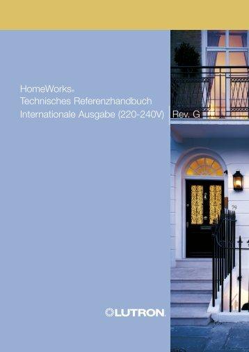 Internationale Ausgabe (220-240V) |Rev. G HomeWorks ... - Lutron