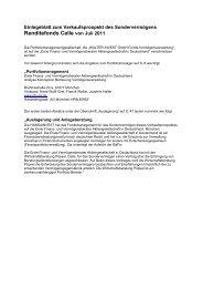 Renditefonds Celle von Juli 2011 - Hansainvest