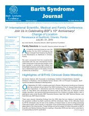 Volume 9, Issue 2 - Barth Syndrome Foundation