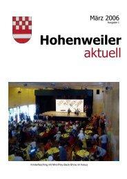 Flurreinigung 2006 - Hohenweiler
