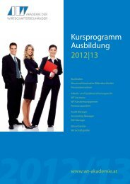 Kursbuch - WT-Akademie