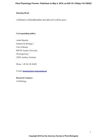 Begin manual download - Plant Physiology