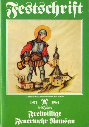 Vereinschronik 1874 - 1984 - Freiwillige Feuerwehr Ramsau