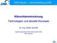 Solare Trocknung - DWA-Landesverbandes Bayern