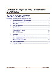 Chapter 5 – Right of Way / Easements / Utilities 5.1 Introduction to ...