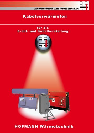 HOFMANN Wärmetechnik Kabelvorwärmöfen
