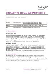 EUDRAGIT RL 100, EUDRAGIT RL PO, EUDRAGIT RS 100 and