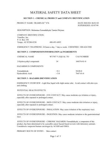Busch R-530 Oil MSDS Material Safety Data Sheet - Ideal ...