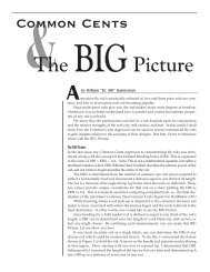 The BIGPicture - The Common Cents System