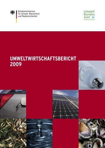 Umweltwirtschaftsbericht 2009 - Kommunale Stadtwerke