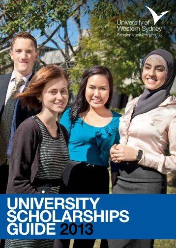 Scholarships Guide 2013 - University of Western Sydney