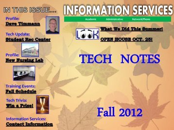 Tech Update - West Chester University