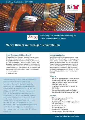 Mehr Effizienz mit weniger Schnittstellen - IDS Scheer AG