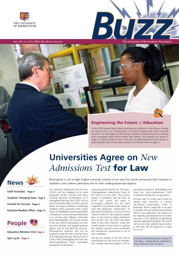 3694 Buzz issue 39 a/w - download.bham.ac.uk - University of ...