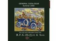 General catalogue summer 2008 - R.F.G. Hollett and Son