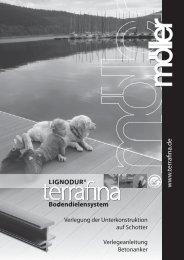 LIGNODUR® w w w .terrafi na.de Bodendielensystem Bod - Hirth