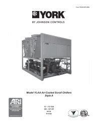 Model YLAA Air-Cooled Scroll Chillers Style A - Aireyork