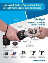 Battpac® LT 4-Ton Inline Cordless Crimp Tool