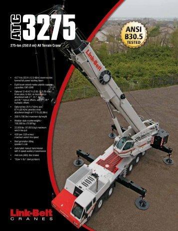 275-ton (250.0 mt) All Terrain Crane - Link-Belt Construction ...