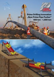 "Prime Drilling Innovation ""New Prime Pipe Pusher"" 400 ton - 1,000 ton"