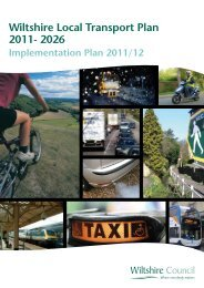 Implemention Plan - Wiltshire Council