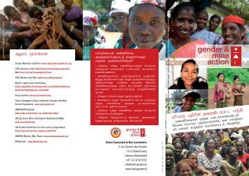Tamil - Gender and Mine Action