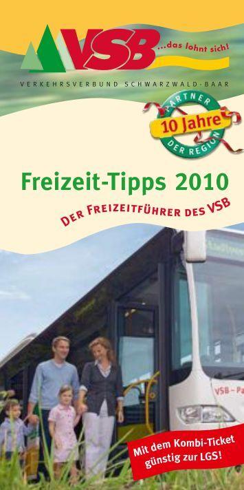 Freizeit Tipps 2010 - VSB Verkehrsverbund Schwarzwald-Baar