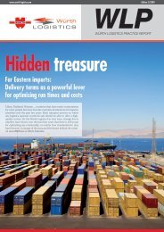 Far Eastern imports: Delivery terms as a powerful ... - Würth Logistics