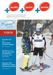 +punkt 1/2010 - PLUSPORT Behindertensport Schweiz
