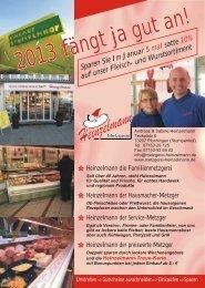 2013 fängt ja gut an! - Metzgerei Heinzelmann