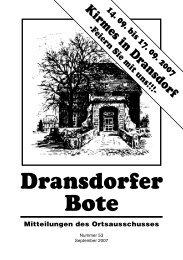 53/2007 - Ortsausschuss Bonn-Dransdorf