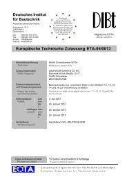 Europäische Technische Zulassung ETA-05/0012