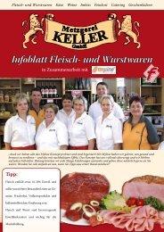 Infoblatt Fleisch- und Wurstwaren - Metzgerei Keller