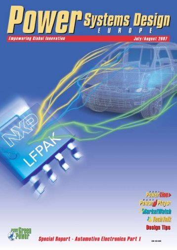 Special Report – Automotive Electronics Part I - Power Systems ...