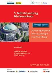 5. Mittelstandstag Niedersachsen - Convent