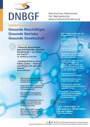 Gesunde Beschäftigte Gesunde Betriebe Gesunde ... - DNBGF