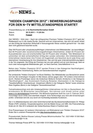 """PDF :: fair-NEWS.de :: """"HIDDEN CHAMPION 2012 ..."""