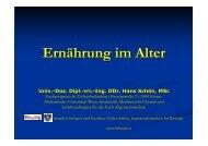 Ernährung im Alter - Facharztpraxis Labor Doz. Schön