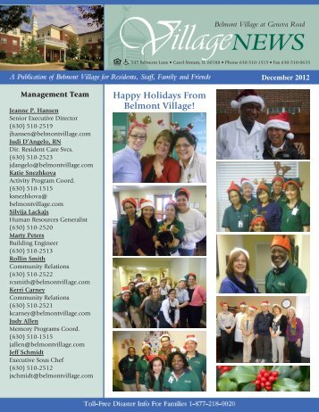 Happy Holidays From Belmont Village!